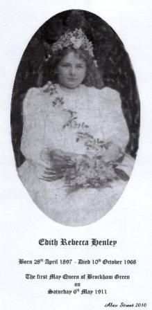 1911 Edith Henley - The First Brockham May Queen