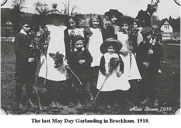 1910 The Last Brockham May Day Garlanding