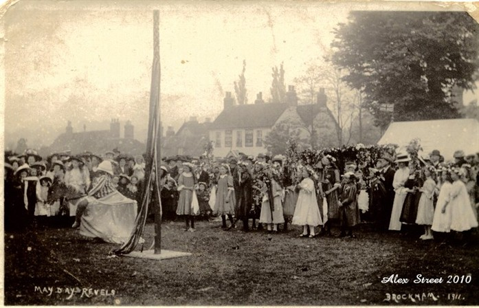 1911 The Brockham May Day Revelers And Hobby Horse