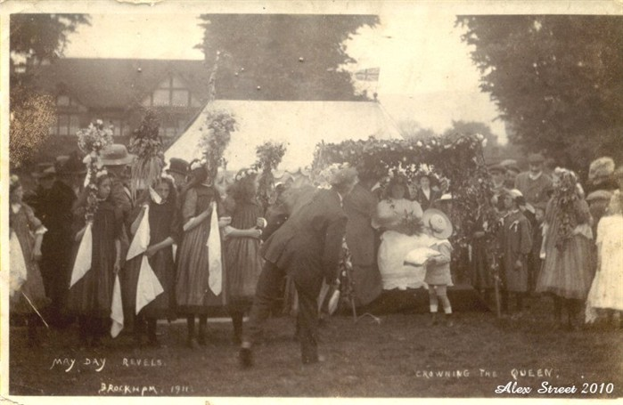 1911 The Crowning Of The Brockham May Queen